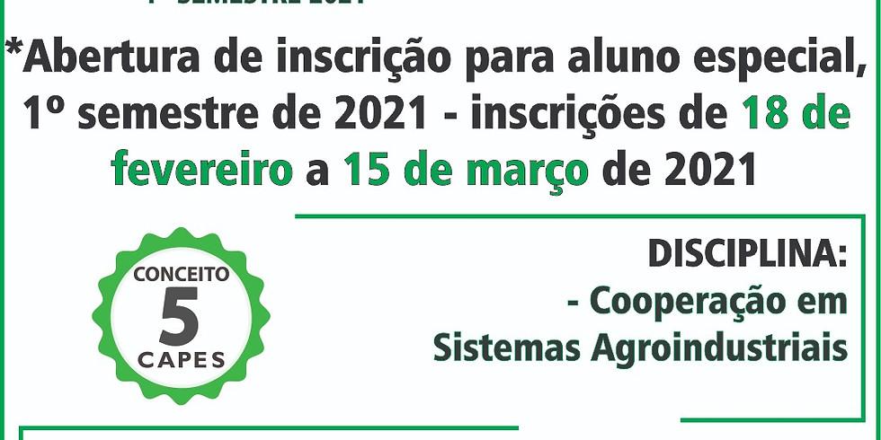 Edital para Aluno Especial no Programa de Pós-graduação em Desenvolvimento Regional e Agronegócio - PGDRA