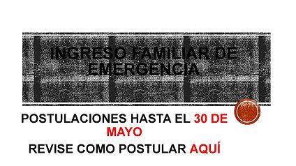 indicaciones INGRESO FAMILIAR DE EMERGEN