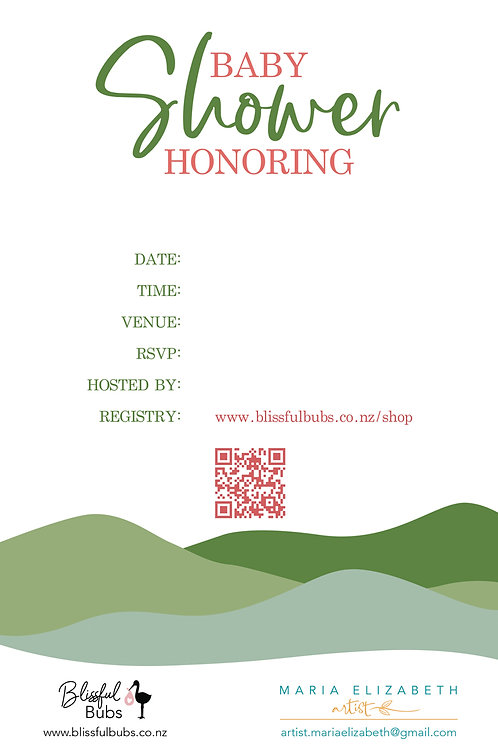 Hills Baby Shower Invitations - 10 pack