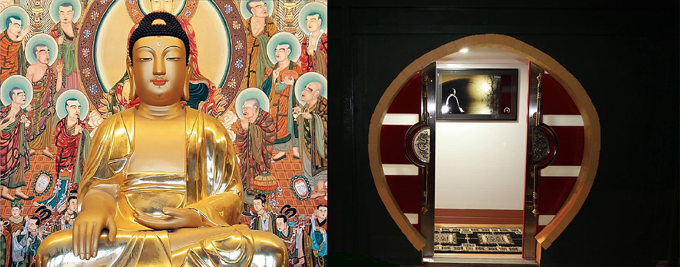 Buddha and Door at Phoenix Zen Centre