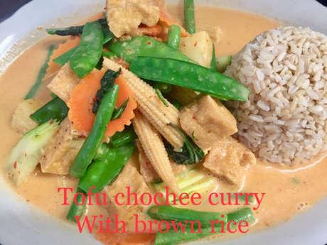 Tofu Chochee with brown rice