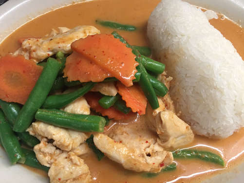 Chicken Panang with Sticky Rice