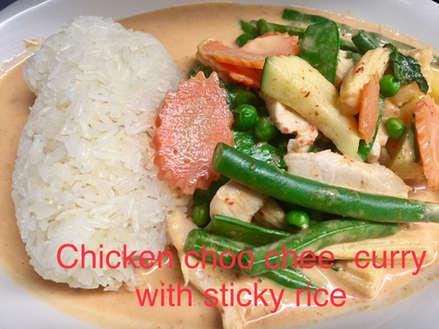 Chicken Chochee with sticky rice