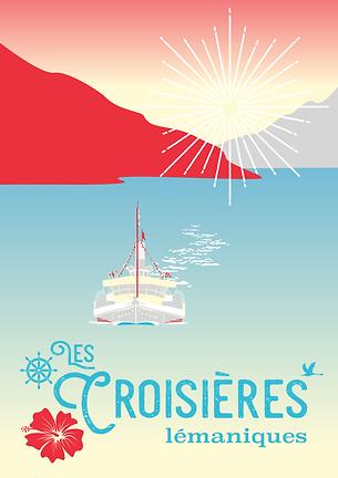 graphic design croisières lémaniques adigrafik art déco style