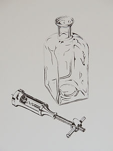 Zapfenzieher und Flasche