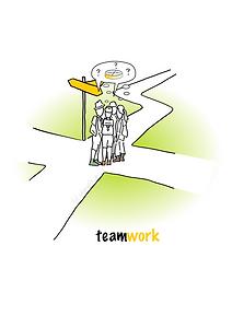 teamwork teamarbeit illustration