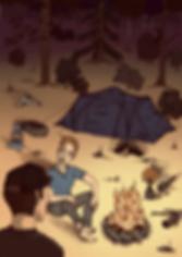 camping campfire adventure poster Adigrafik