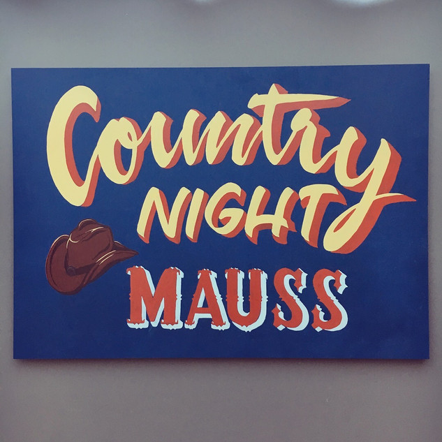 Country Night Mauss sign