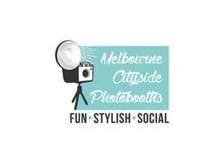 Melbourne Cityside Photobooths logo white background