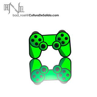 ilustracion de control de video juego