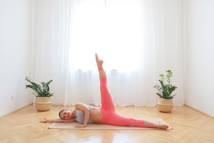11 Min Pilates für Po und Hüften für 1. und 2. Trimester