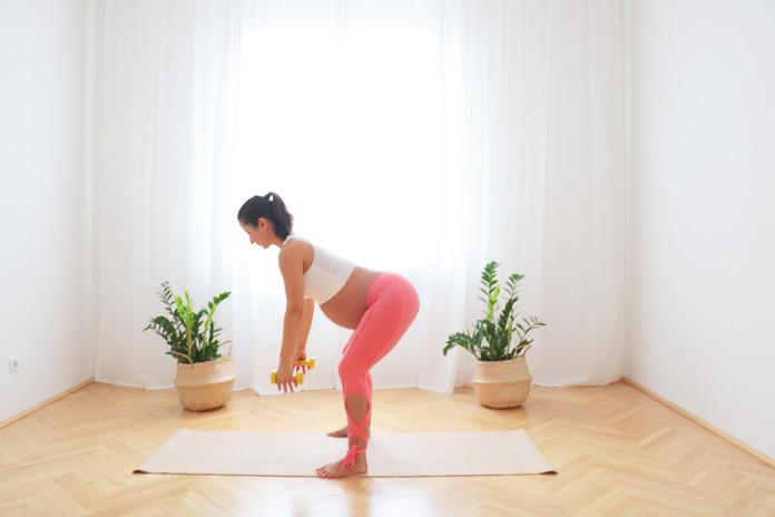 33 Min Ganzkörper Kurzhantel Workout ab dem 8. Monat