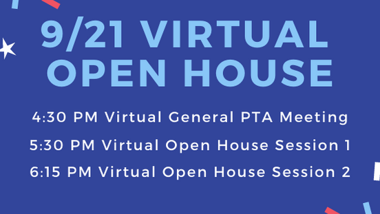 Virtual PTA Meeting and Open House