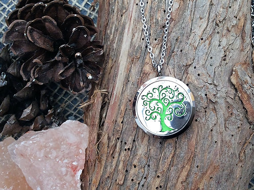 Large Curly Tree of Life Stainless Steel Pendant