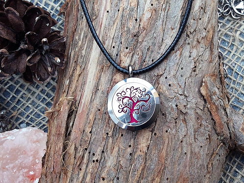 Small Curly Tree of Life Stainless Steel Pendant