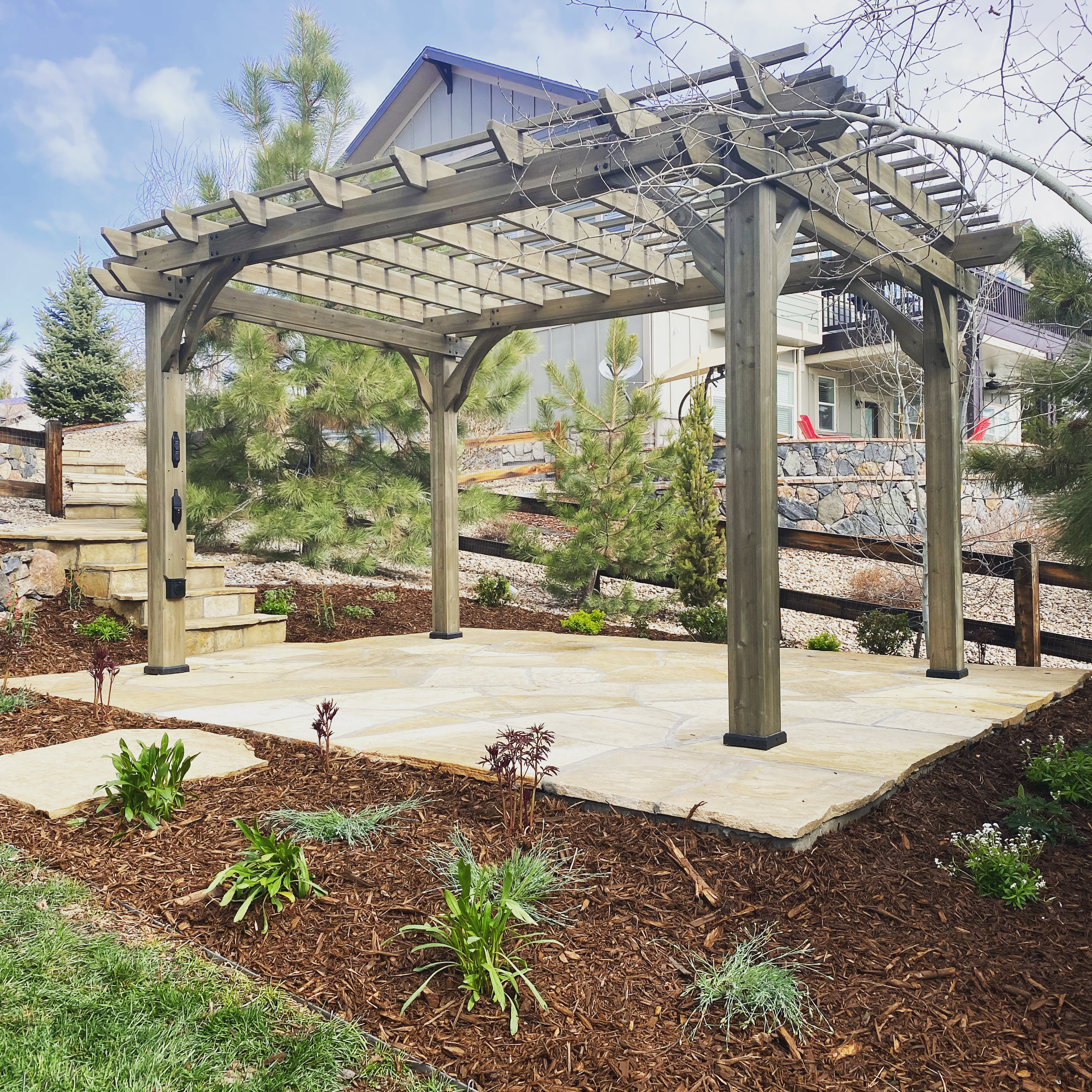 Flagstone Pergola Patio