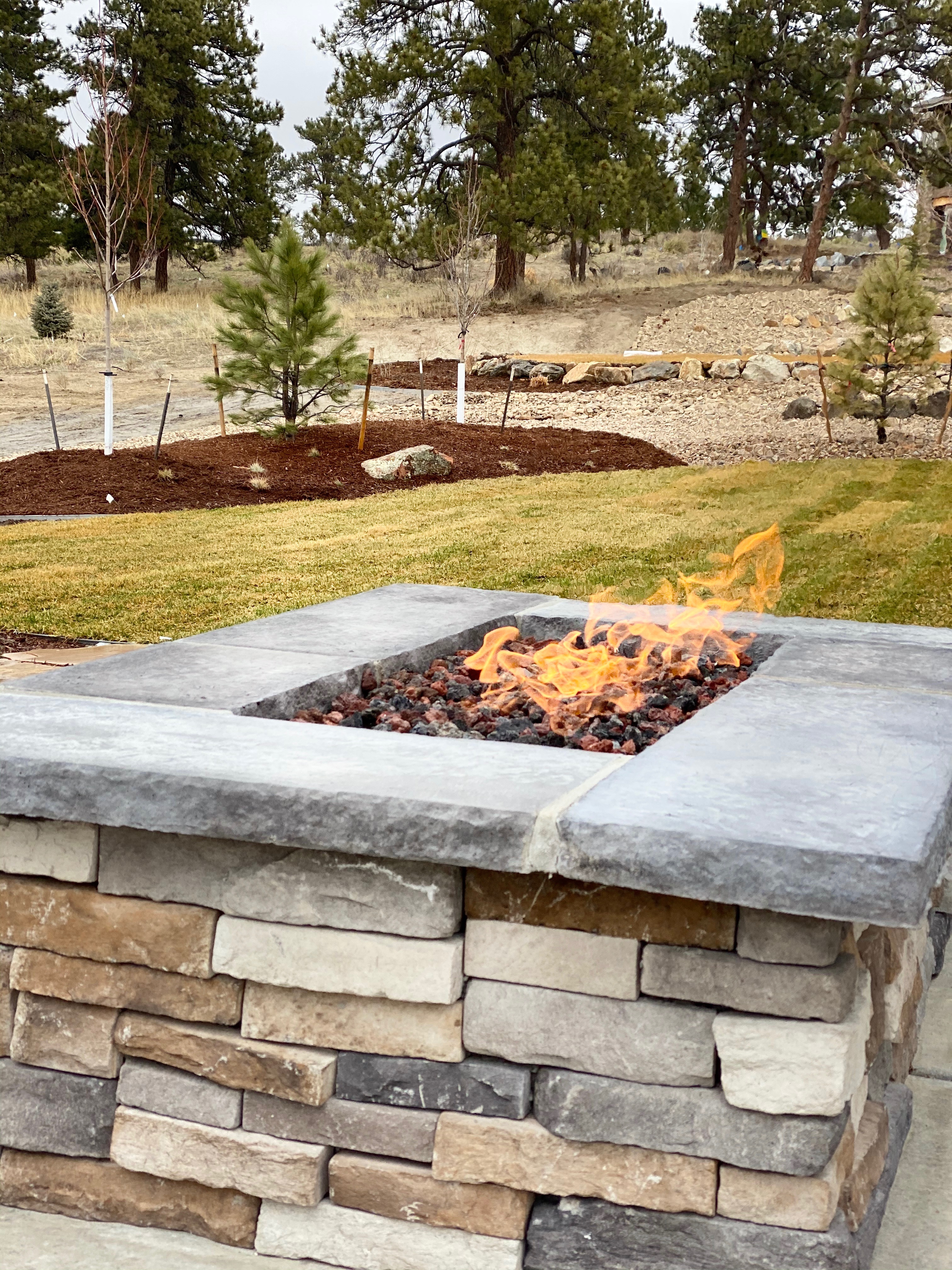 Large Natural Gas Fire Pit