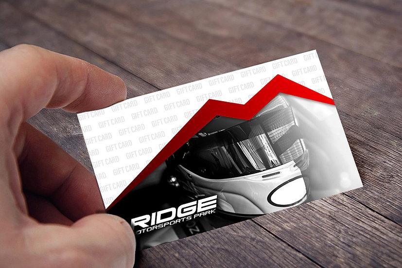 RIDGE MOTORSPORTS PARK GIFT CARD