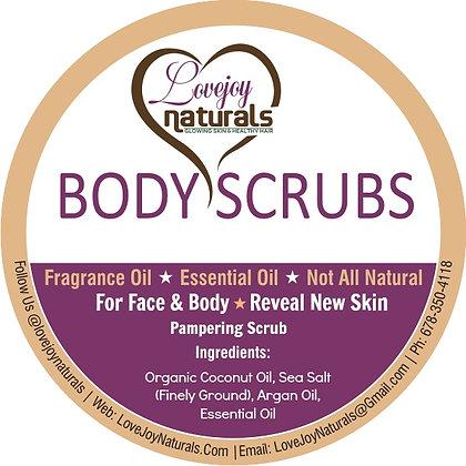 Lemon scented body scrubs!