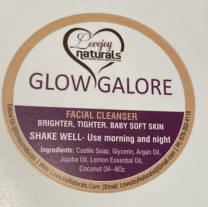 GLOW GALORE face cleanser- 8oz.