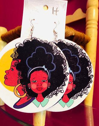Double Beauty wooden earrings