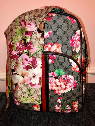 Designer Inspired back pack style bag and matchingscarf