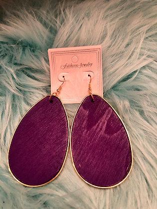 Large Purple hanging earrings