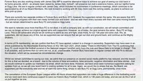 Happy 136th Birthday, Bury Football Club