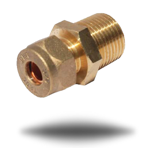 4027 3/8 inch Male BSPT to 3/8 inch Compression Fitting
