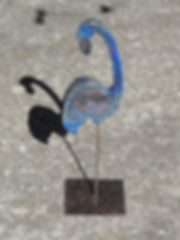 flamant bleu argile raku materremois