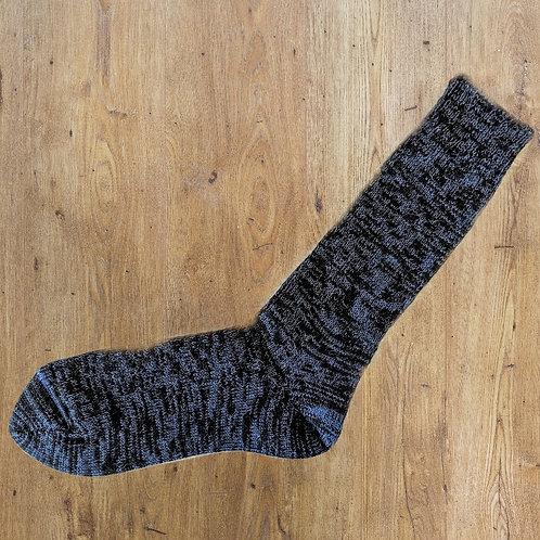 Alpaca Socks: Black w/ Blueberry