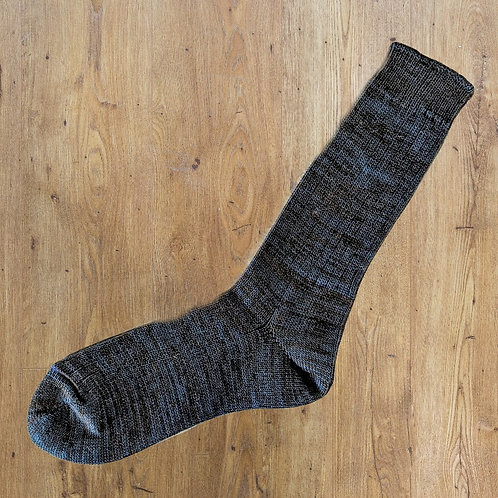 Soup Socks: Blue Brown