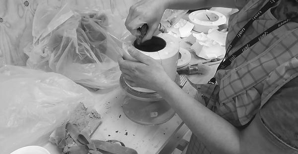 hermine doubon, making process, ceramics, porcelain, slip castin, mould, maker