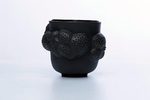 Handmade Black Porcelain Vessel 'Lychnis' 300mL (10.5 fl oz)