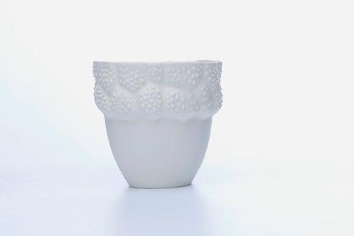 Handmade White Porcelain Vessel 'Asclépiade' – 450ml (15.8 fl oz)