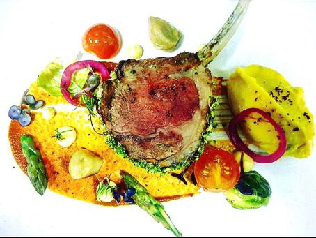 Broccoli Crust Lamb Chop, Makhni Sauce, Ghee Roasted Asparagus , Saffron Mash Potato By Chef Ashish