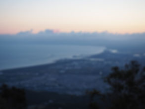 手稲山頂から石狩湾を望む