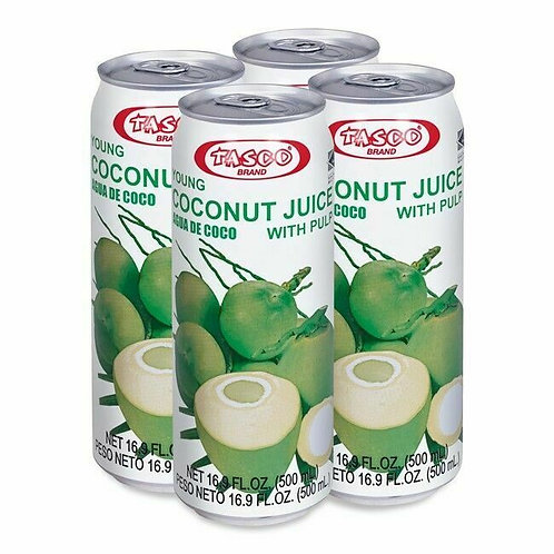 Young Coconut Juice With Pulp-16.9oz【4】