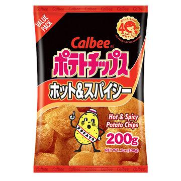 Calbee Potato Chips Hot & Spicy-7oz【3bag】