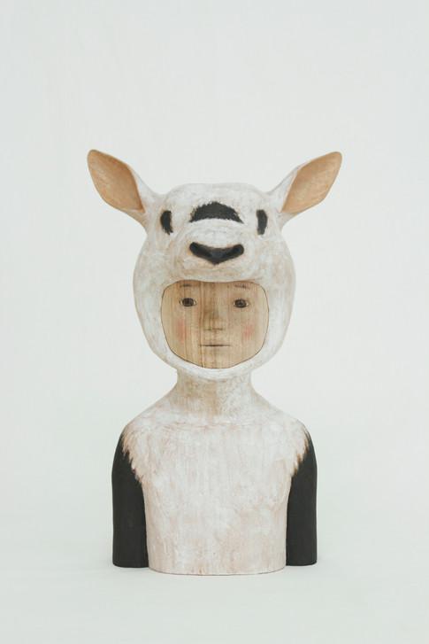 Arabian oryx 33×21×17.5cm|Camphorwood|2015