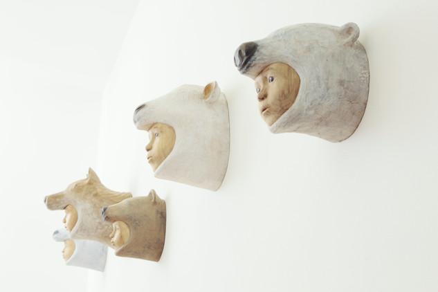 """installation view """"Relation"""" 2010"""