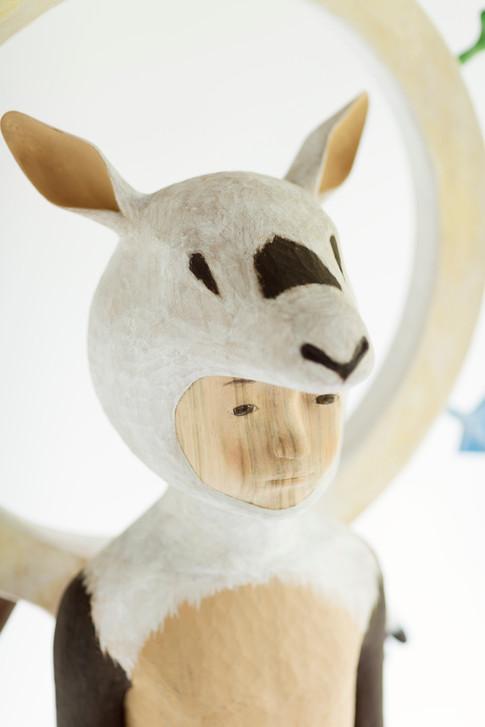 Spectrum - Arabin Oryx - 139.5×56×26.5cm | 2017| Photo: Shinichiro Uchida