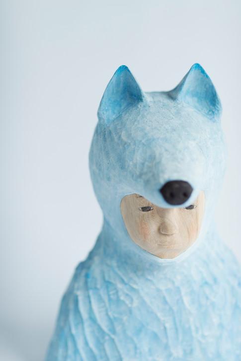 Wolf|32.5×25×17.5cm|2017 Photo: Shinichiro Uchida