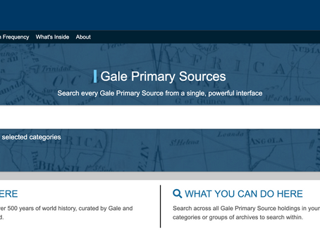 Historical Primary Sources At Your Fingertips