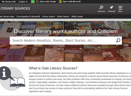 Author and Film Studies Research - New Databases