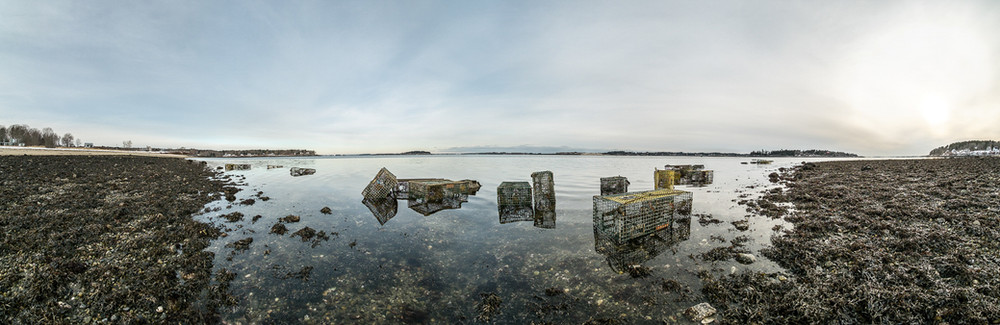 Lobster Traps at Low Tide 20170109