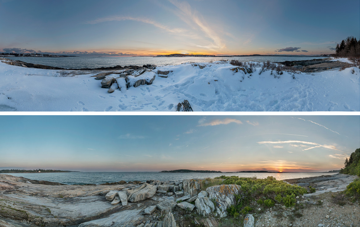 Deer Point Sunset Winter and Summer_20140101-0603