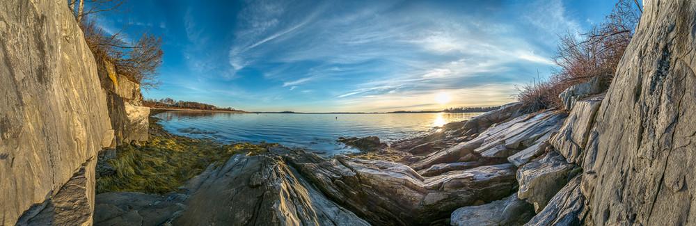 Coleman Cove Ledge at Sunrise 20151226