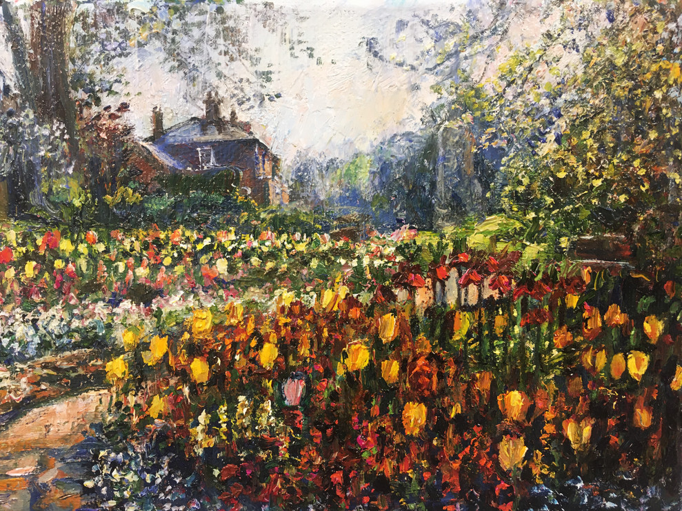 Tulips in the Castle Grounds, Guildford by Jane Allison