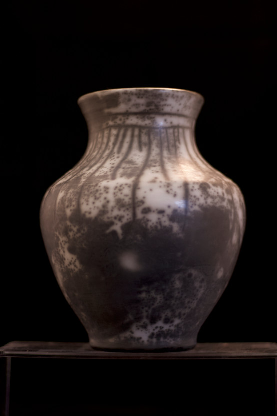 Naked raku Vase I 2020 by Peter Smith